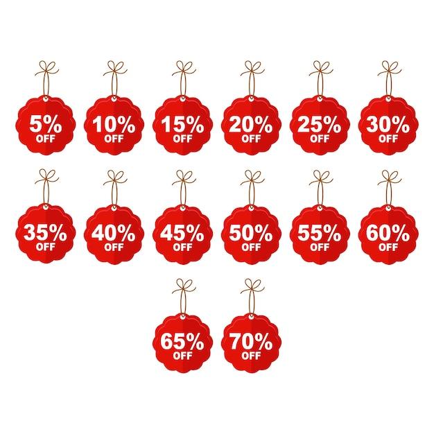 Vente discount mignon prix tags icon set 5 à 70 off Vecteur Premium