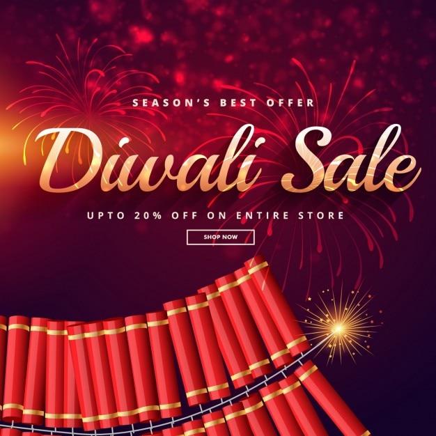 vente diwali avec feux d 39 artifice t l charger des vecteurs gratuitement. Black Bedroom Furniture Sets. Home Design Ideas