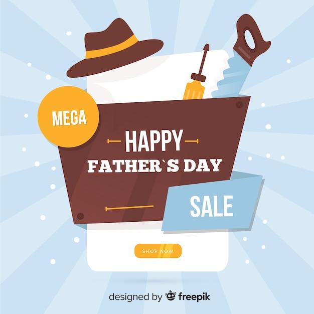 Vente de fête des pères Vecteur gratuit