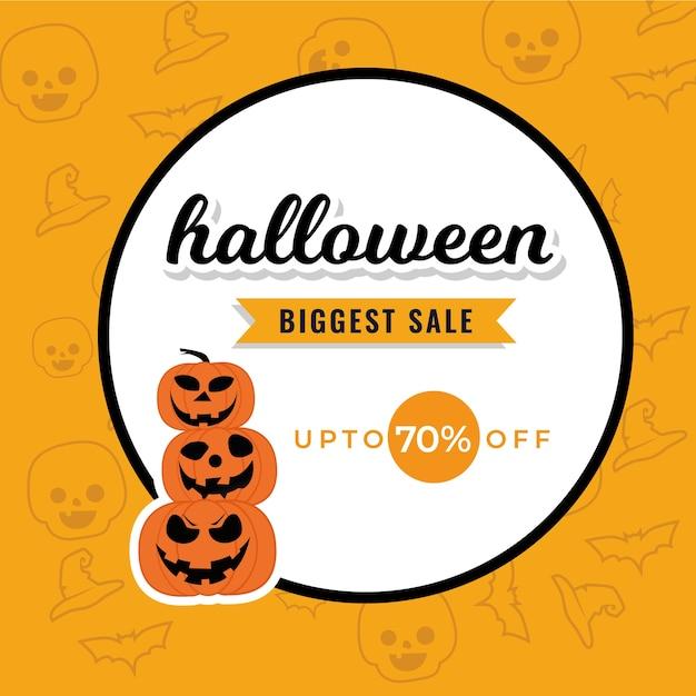 Vente d'halloween Vecteur Premium