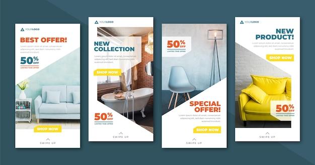 Vente De Meubles Ig Stories Collection Avec Image Vecteur gratuit