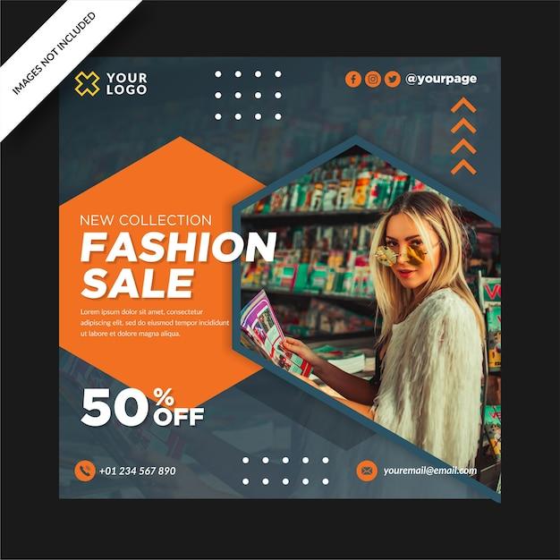 Vente De Mode Nouvelle Collection Bannière Design Instagram Post Vecteur Premium