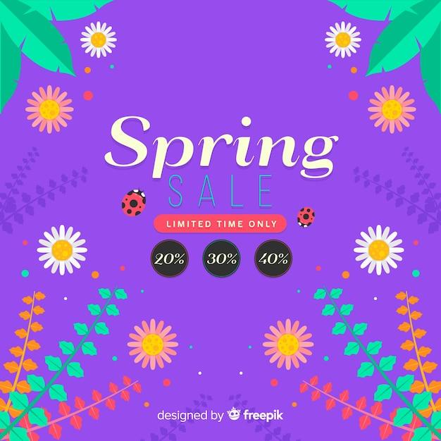 Vente de printemps Vecteur gratuit