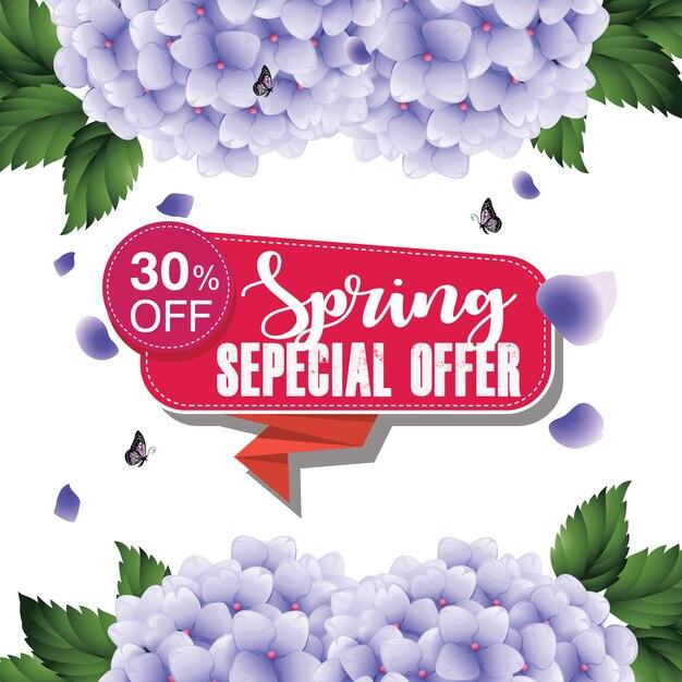 Vente sans couture au printemps Vecteur Premium