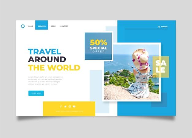 Vente De Voyage - Concept De Page De Destination Vecteur gratuit