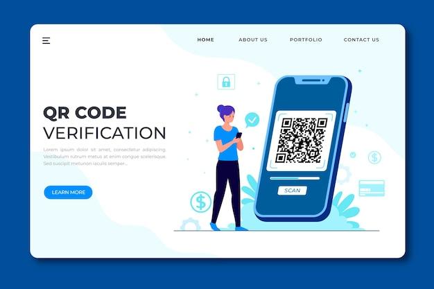 Vérification Du Code Qr Vecteur gratuit