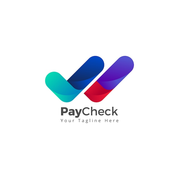 Vérifier la conformité de la paye cochée vérifier le logo icône Vecteur Premium