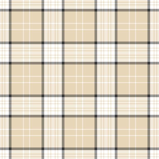 Vérifiez Le Modèle Sans Couture à Carreaux. Fond D'ornement Textile. Conception De Tissu Plat. Tartan. Vecteur Premium