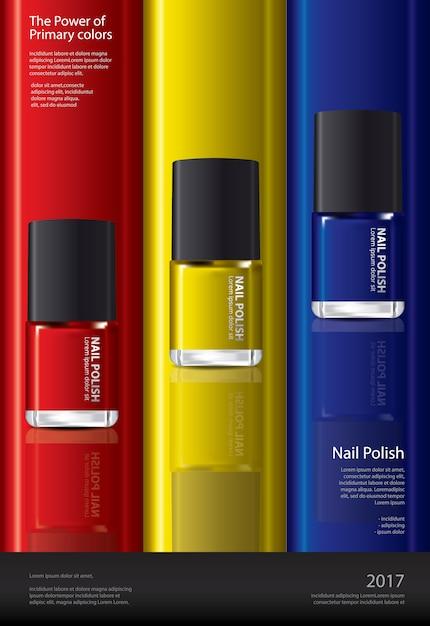 Vernis à ongles affiche modèle de conception illustration Vecteur Premium