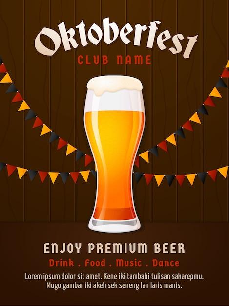 Verre à bière. Vecteur Premium
