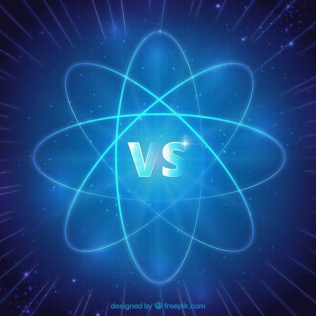 Versus background avec atome Vecteur gratuit