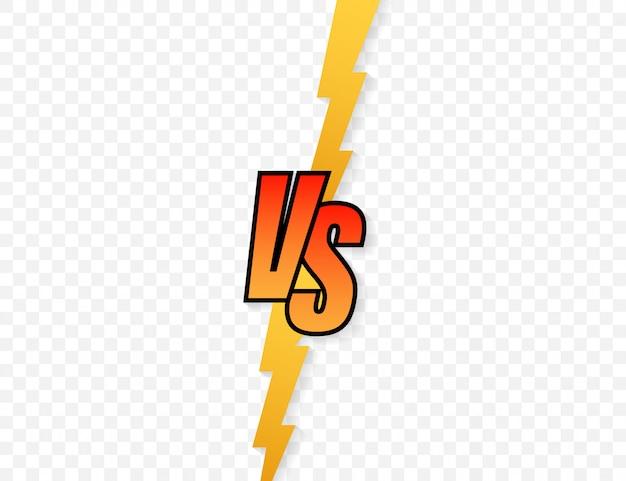 Versus logo vs lettres pour le sport et la compétition de combat Vecteur Premium