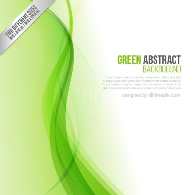 Vert abstrait Vecteur gratuit