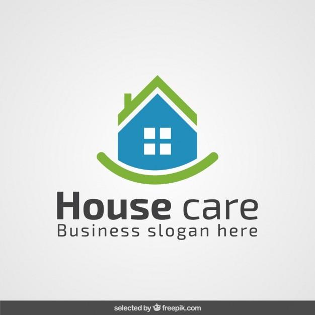 Vert Et Bleu Logo De L'immobilier Vecteur gratuit