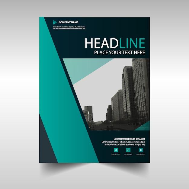 Vert créatif rapport annuel modèle de couverture du livre Vecteur gratuit
