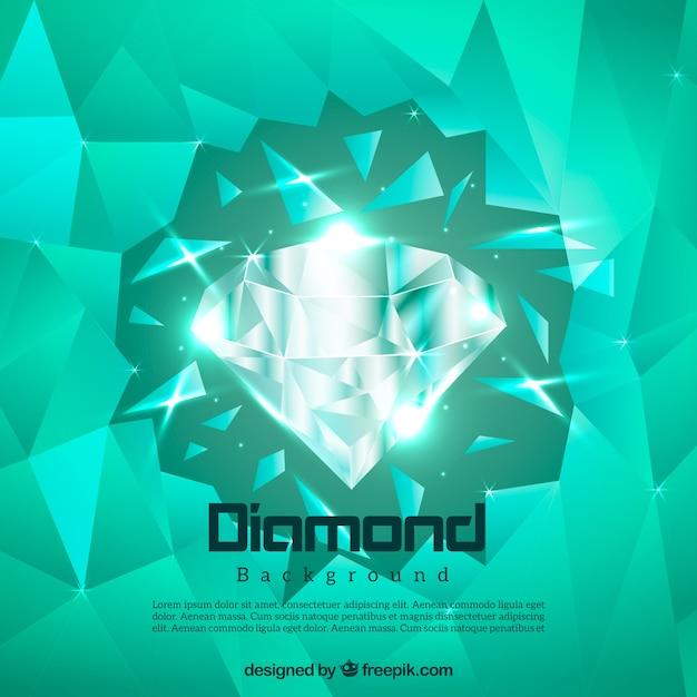 Vert diamant fond Vecteur gratuit