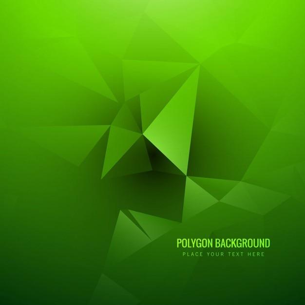 Vert Polygone Fond Vecteur gratuit