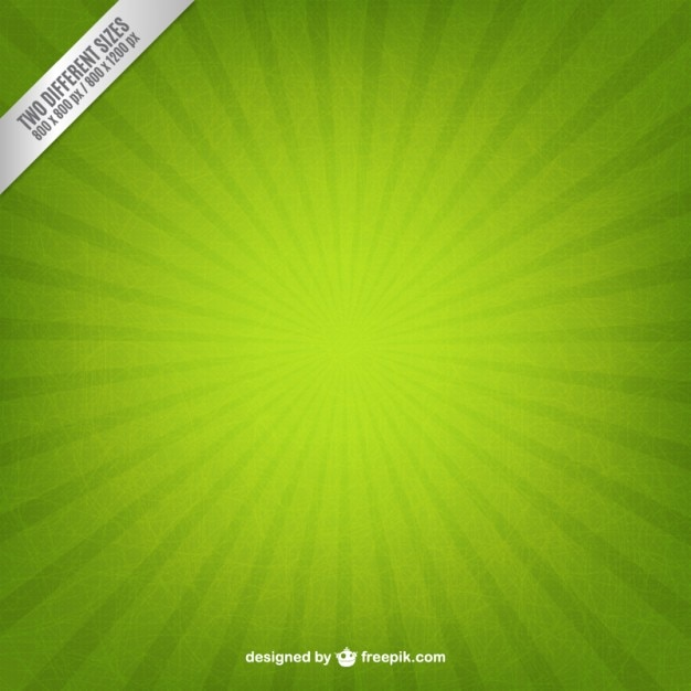 Vert starburst fond Vecteur gratuit