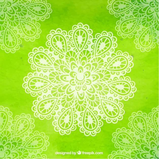 vert yoga fond avec des fleurs