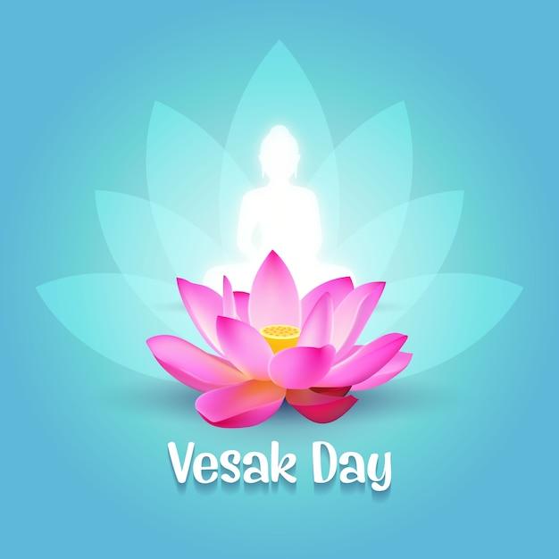Vesak day wishes Vecteur Premium