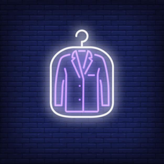 Veste de costume en couverture au néon Vecteur gratuit