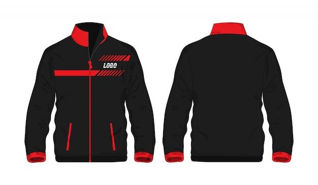 Veste De Sport Rouge Et Noir T Illustration Vecteur Premium