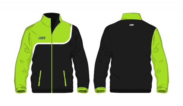 Veste De Sport Vert Et Noir T Illustration Vecteur Premium