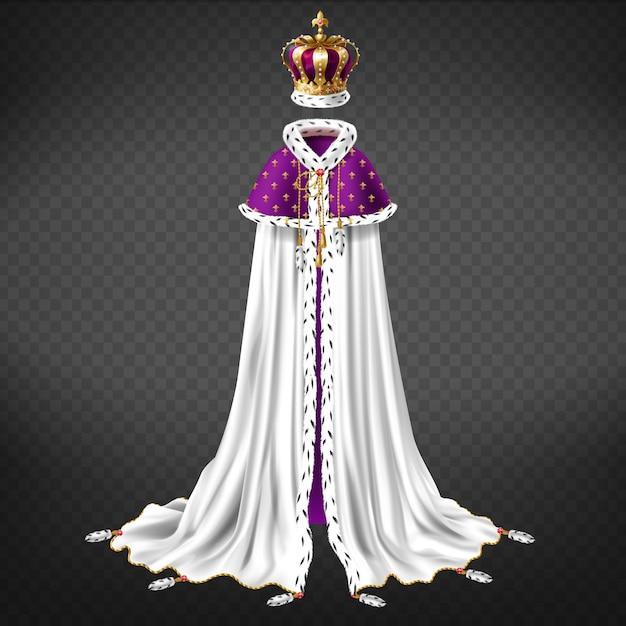 Vêtement royal de cérémonie Vecteur gratuit