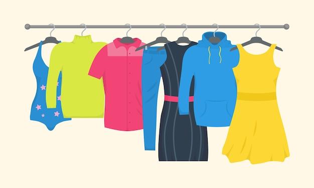 Vêtements Et Accessoires Jeu D'icônes De Mode. Vecteur Premium