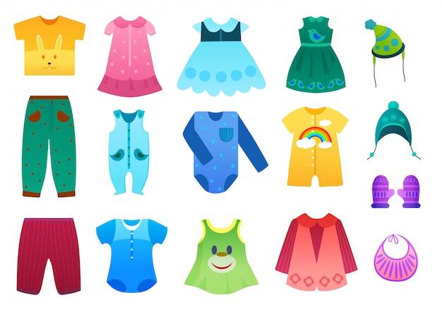 Vêtements Enfant Bébé Et Enfant Vecteur Premium