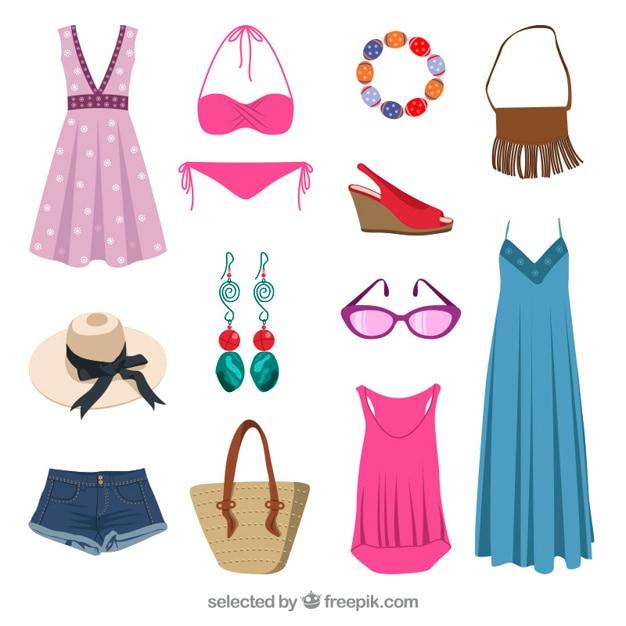 Vêtements D'été Vecteur gratuit