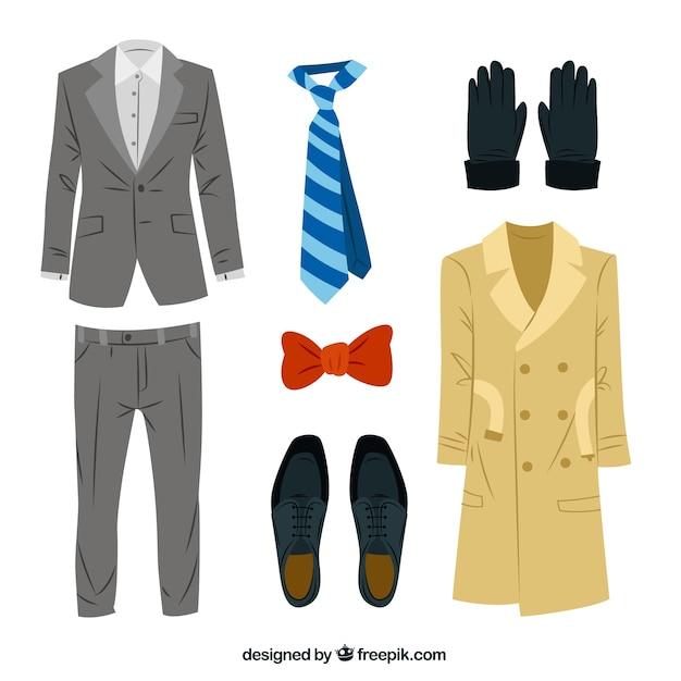 Vêtements pour hommes élégants Vecteur gratuit