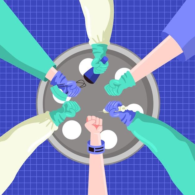 Victoire Sur Le Concept De Coronavirus Vecteur gratuit