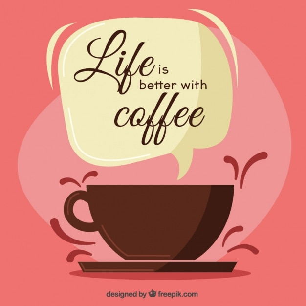 La vie est meilleure avec le café Vecteur gratuit