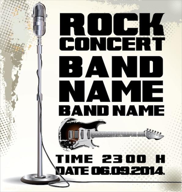 Vieille montre concert de rock Vecteur Premium