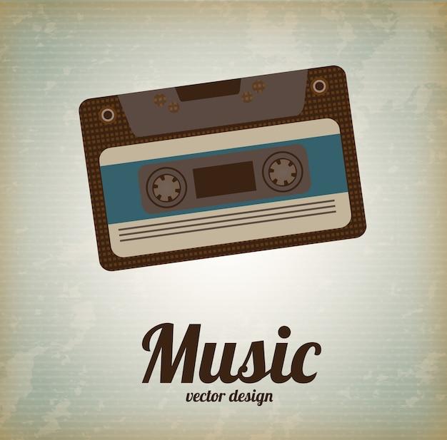 Vieille musique Vecteur Premium