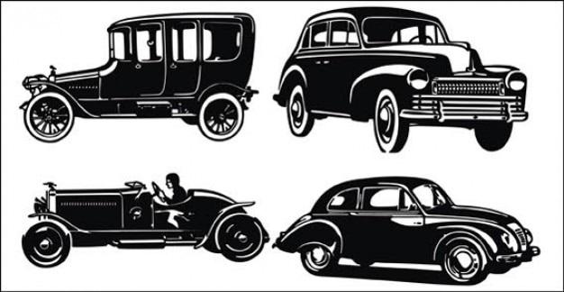 Vieille voiture et des silhouettes en jeep t l charger - Image de vieille voiture ...