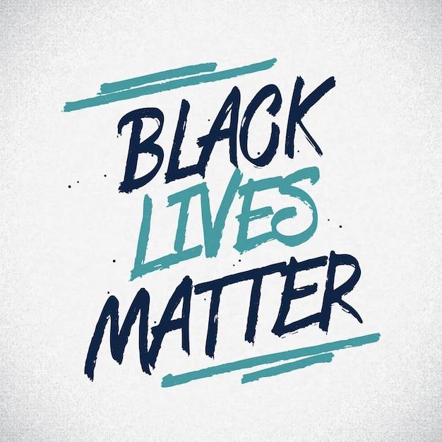 Les Vies Noires Comptent - Lettrage Vecteur gratuit