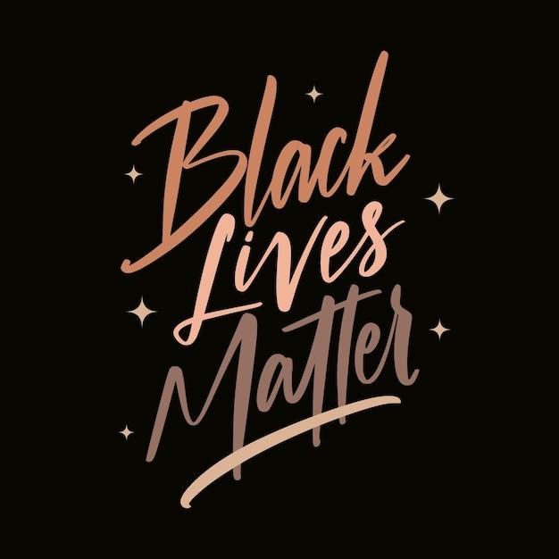 Les Vies Noires Comptent - Lettrage Vecteur Premium