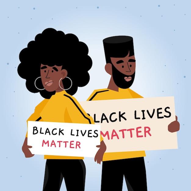 Les Vies Noires Comptent Vecteur gratuit