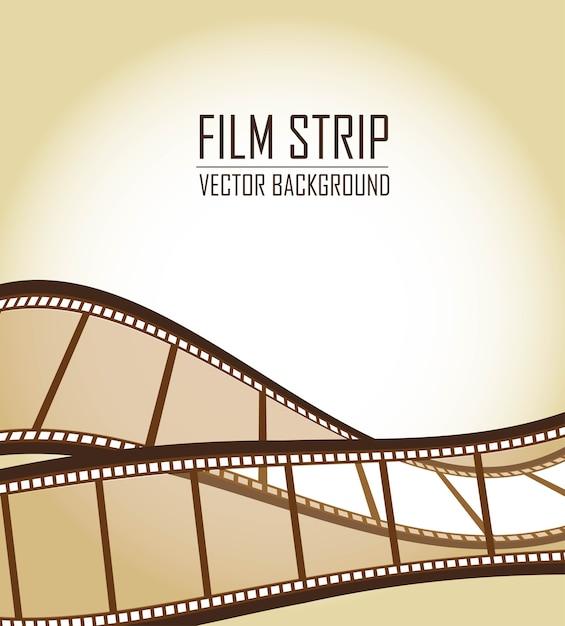 Vieux films bruns bandes sur vecteur fond marron Vecteur Premium