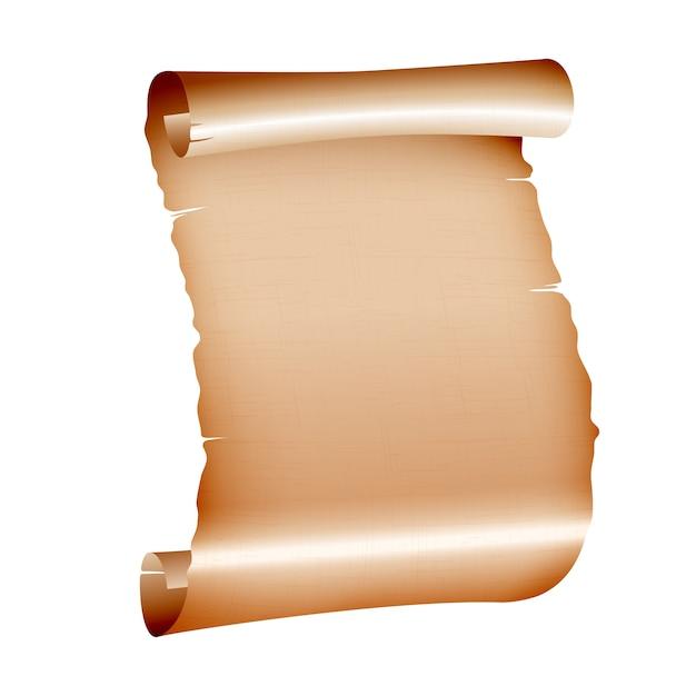 Vieux Papier Parchemin Vierge Sur Fond Blanc. Vecteur Premium