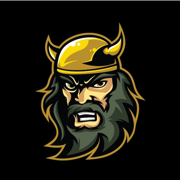 Viking Logo Vecteur Premium