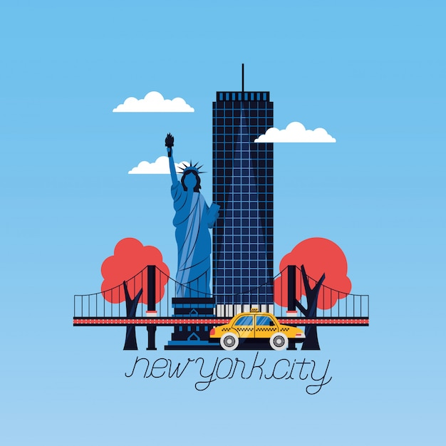 La ville de new york Vecteur gratuit