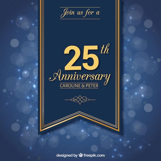 Vingt-cinquième Anniversaire De Ruban Vecteur gratuit
