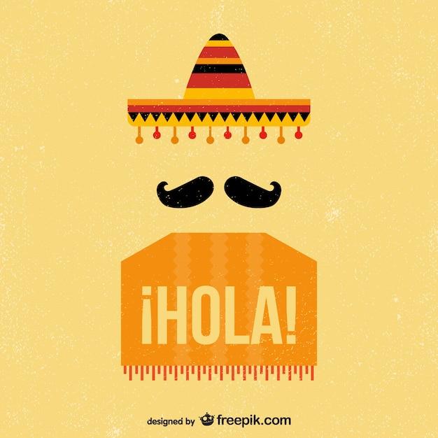 Vintage background mexicain Vecteur gratuit