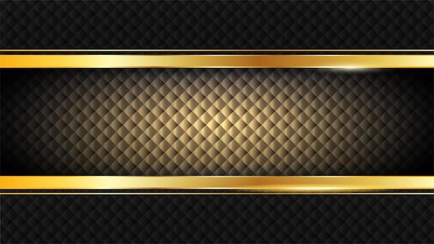 Vintage cadre doré brillant Vecteur Premium