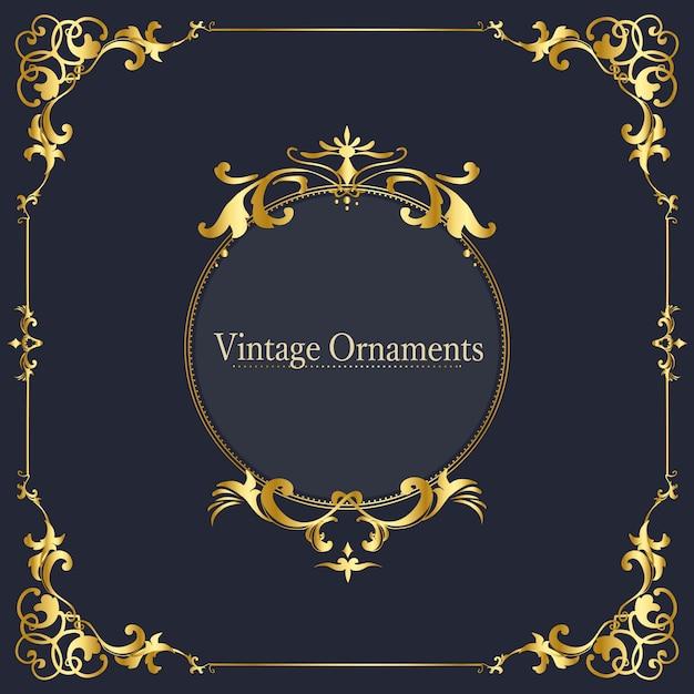 Vintage cadre vecteur ornement s'épanouir Vecteur gratuit