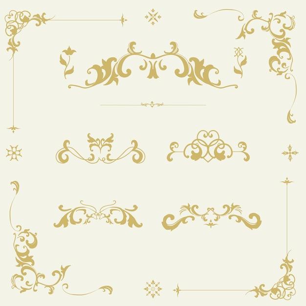 Vintage Cadre Vectoriel D'ornement S'épanouir Vecteur gratuit