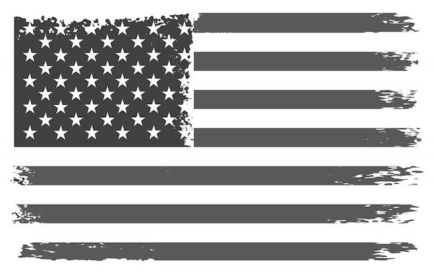Vintage drapeau des états-unis Vecteur Premium